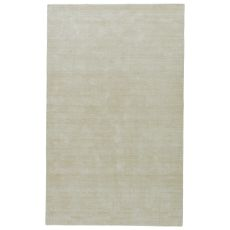 Solids & Heather Pattern White/Neutral Polyester Area Rug ( 9X13)