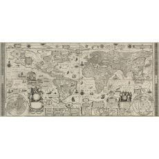 Antique World Wall Map 1604