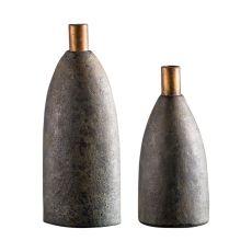 Uttermost Kasen Charcoal Vases S/2
