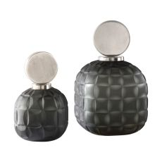 Uttermost Nafuna Charcoal Glass Bottles S/2