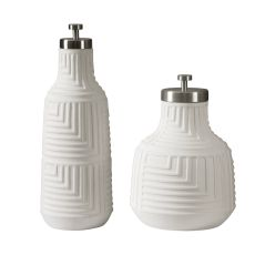Uttermost Chandran Matte White Containers S/2
