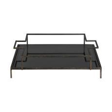 Uttermost Rayna Black Glass Tray