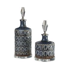 Uttermost Varuna Cobalt Blue Bottles S/2