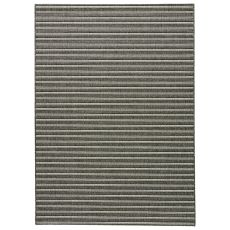Indoor-outdoor Stripes Pattern Brown/Gray Polypropylene Area Rug ( 8x10)