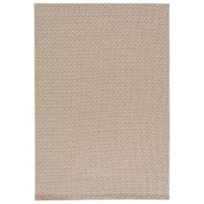 Indoor-Outdoor Geometric Pattern Neutral/White Polypropylene Area Rug ( 8X10)