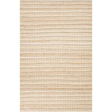 Stripes Pattern Cotton And Jute Andes Area Rug