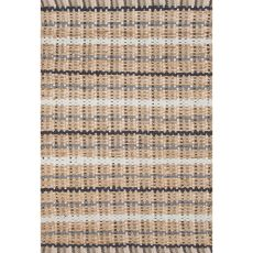 Naturals Stripes Pattern Taupe/Gray Cotton And Jute Area Rug (8X10)