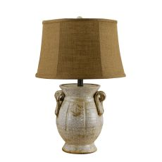 St Tropez Urn Ivory Table Lamp