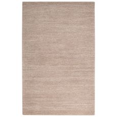 Contemporary Solid Pattern Tan Wool And Art Silk Area Rug (9X12)