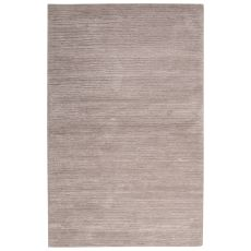 Contemporary Solid Pattern Gray Wool And Art Silk Area Rug (9X12)