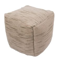 """Green Wool And Cotton Pouf (18""""X18""""X18"""")"""
