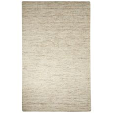 Solids Solids & Heather Pattern Ivory/White Wool And Cotton Area Rug (8X10)