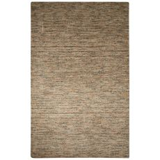 Solids Solids & Heather Pattern Gray/Tan Wool And Cotton Area Rug (8X10)