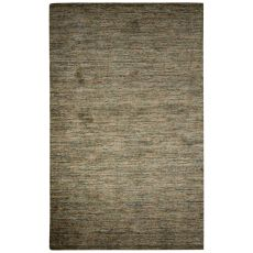 Solids Solids & Heather Pattern Green/Brown Wool And Cotton Area Rug (8X10)