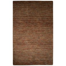 Solids Tribal Pattern Brown Wool And Cotton Area Rug (8X10)