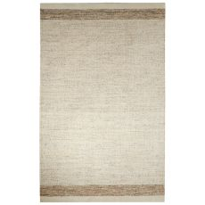 Solids Border Pattern Ivory/Beige Wool And Cotton Area Rug (8X10)