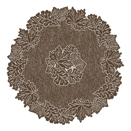 """Leaf 36"""" Round Table Topper, Earth"""
