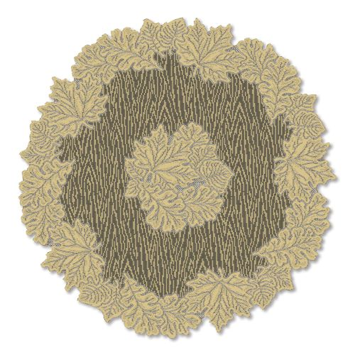 "Leaf 36"" Round Table Topper, Goldenrod"