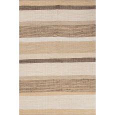 Flatweave Stripes Pattern Beige/Ivory Cotton Area Rug (8X10)