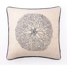 Anemone Embroidered Pillow 20X20""