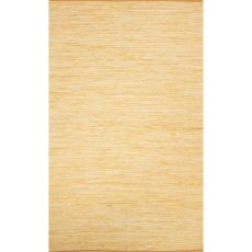 Flatweave Solid Pattern Yellow/Gold Cotton Area Rug (9X12)