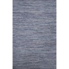 Flatweave Solid Pattern Blue Cotton Area Rug (9X12)