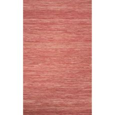 Flatweave Solid Pattern Red Cotton Area Rug (9X12)