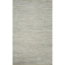 Flatweave Solid Pattern Gray Cotton Area Rug (9X12)
