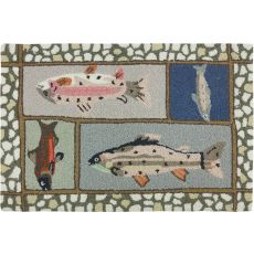 "Mountain Trout Polyester Rug, 22""X34"""