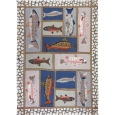 Mountain Trout Polyester Rug, 5'X7'