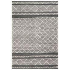 """Liora Manne Artista Diamond Stripe Indoor/Outdoor Rug Grey 5'X7'6"""""""