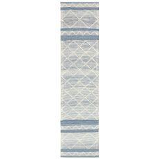 """Liora Manne Artista Diamond Stripe Indoor/Outdoor Rug Denim 24""""X8'"""