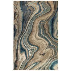 "Liora Manne Ashford Agate Indoor Rug Blue 23""x7'6"""