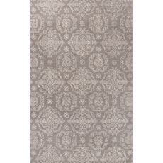 Classic Oriental Pattern Gray/Ivory Wool And Art Silk Area Rug (9X12)