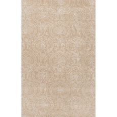 Classic Oriental Pattern Neutral/Ivory Wool And Art Silk Area Rug (9X12)