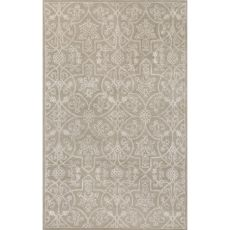 Classic Oriental Pattern Taupe/Ivory Wool And Art Silk Area Rug (9X12)