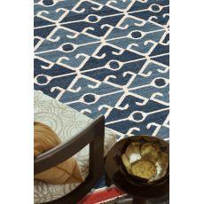 Flatweave Tribal Pattern Blue/Red Wool Area Rug (9X12)