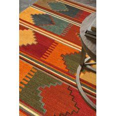 Flatweave Tribal Pattern Red/Multi Wool Area Rug (9X12)