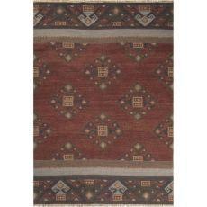 Flatweave Tribal Pattern Red/Multi Wool Area Rug (8X10)