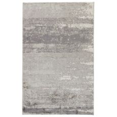 Contemporary Abstract Pattern Gray/White Viscose Area Rug ( 7.6x9.10)