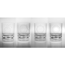Ahoy Acrylic 14oz Double Old Fashion Set of 4