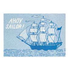 Ahoy Sailor Hook Rug  2X3 FT