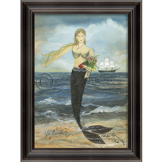 All Her Days Mermaid Framed Art