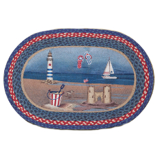 American Coast Oval Patch Rug