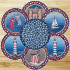 American Coast Trivet Set in Basket