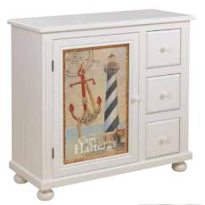 Coastal Cabinet with a Wave of Custom Door Designs