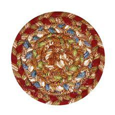 "Homespice Decor 4"" Coaster Round Azalea Jute Braided Accessories"