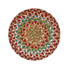 "Homespice Decor 8"" Trivet Round Azalea Jute Braided Accessories"