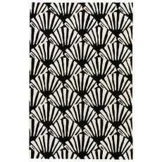 Trellis, Chain & Tiles Pattern Polypropylene Barcelona I-O Area Rug