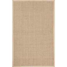 Naturals Solid Pattern Ivory/Taupe Seagrass Area Rug (9X12)